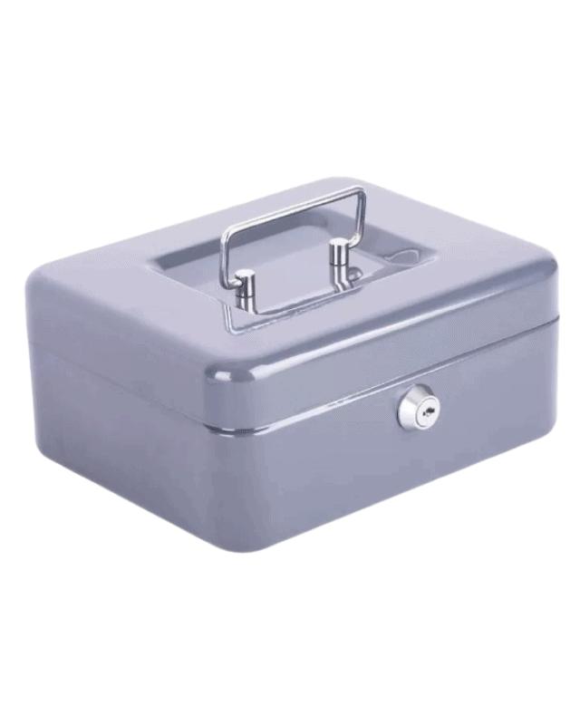 caja menor mediana gris