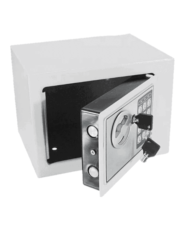 cofre digital pequeño gris