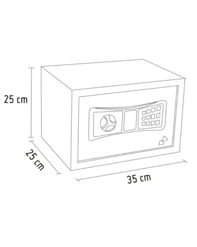 plano y tamaños de caja fuerte grande